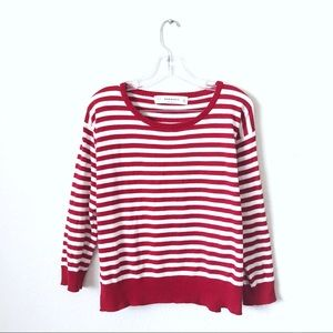 Zara Red and White Stripe Long Sleeve Top!